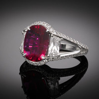 Estate Jewelry, Ruby and Diamond Ring ~ M.S. Rau Antiques
