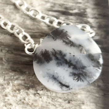 "36 - Dendritic Opal 18"" Sterling Chain - Flash Sale Pricing"