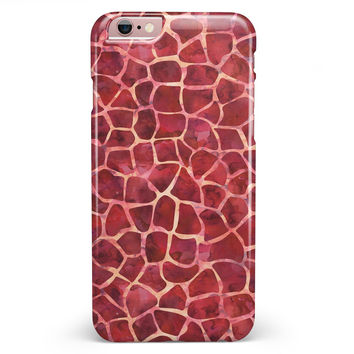 Red Watercolor Giraffe Pattern iPhone 6/6s or 6/6s Plus INK-Fuzed Case