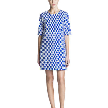 UJUMA MARIMEKKO DRESS BLUE/WHITE