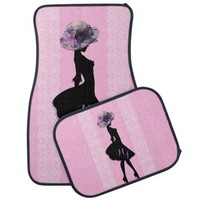 Lady in Victorian hat, Pink Car Mats