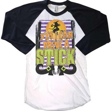 Yes I Can Drive a Stick Raglan