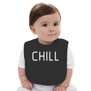 Funny Netflix And Chill Baby Bib