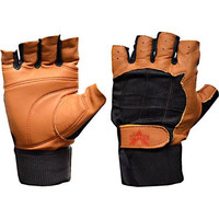 Valeo Ocelot Wrist Wrap Glove Tan & Black