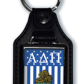 Alpha Delta Pi US Flag Style Licensed Greek Life Keychain