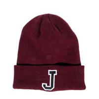 ASOS Beanie with J Patch at asos.com