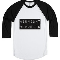 Midnight Memories-Unisex White/Black T-Shirt