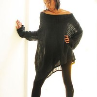 Sassy me long...Black linen cotton blend (S-L)