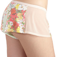 ModCloth Pastel Short Girly Night In Sleep Shorts