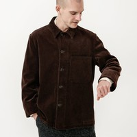Margaret Howell MHL Single Pocket Jacket - Corduroy Dark Brown on Garmentory