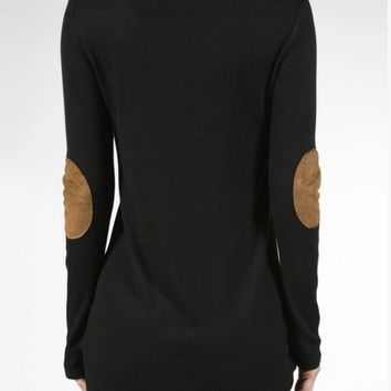 Suede Elbow Patch Thermal Top - 3 Colors!