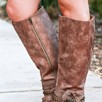 FALLING FOR FALL BOOTS IN COGNAC