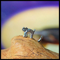 Cat Nose Stud Kitten Nose Ring El Gato Nose Stud by RockYourNose