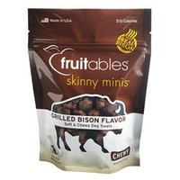 Fruitables Grilled Bison Skinny Minis Soft and Chewy Dog Treats