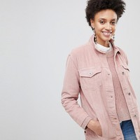 Stradivarius Cord Trucker Jacket at asos.com