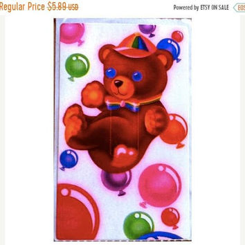 SALE Rare Vintage Lisa Frank Floating Bear and Balloons Lightswitch Cover Sticker 80's