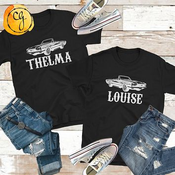 Thelma and Louise Best Friends Bestie Unisex Softstyle Tees
