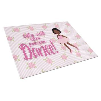 Ballet African American Short Hair Glass Cutting Board Large BB5384LCB