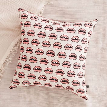 Wesley Bird For DENY Gap Tooth Girl Pillow - Urban Outfitters