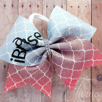 Ibackspot cheer bow, cheer bows, backspot cheer bow, cheer team bows, gifts for cheerleaders, glitter cheer bow, sparkle cheer bow