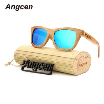 3d6e73cf0489 Angcen 2017 New fashion Products Men Women Glass Bamboo Sunglasses au Retro  Vintage Wood Lens Wooden