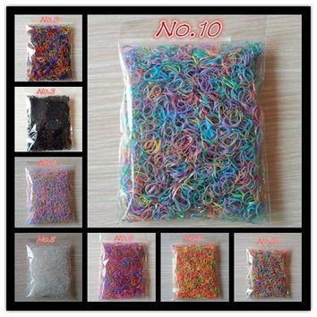 1000pcs/bag (small package) Rubber Band  Elastic Hair Accessories