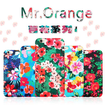 Korean Floral Iphone Phone Case Apple Silicone Phone Case [8153002567]