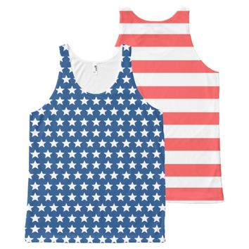 Stars and Stripes All-Over-Print Tank Top