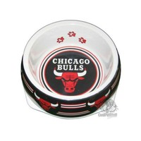 ICIKT9W Chicago Bulls Dog Bowl