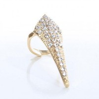 RHINESTONE ARROWHEAD RING @ KiwiLook fashion