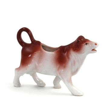 Antique Germany Miniature Porcelaine Cow Creamer