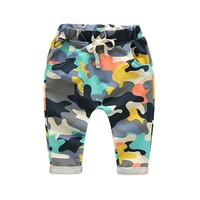 Toddlers Baby Boy Pants Kids Harem Pants Camouflage Children Pants Kids Cotton Warm Boys & Girls Trousers for 2-7 Yr