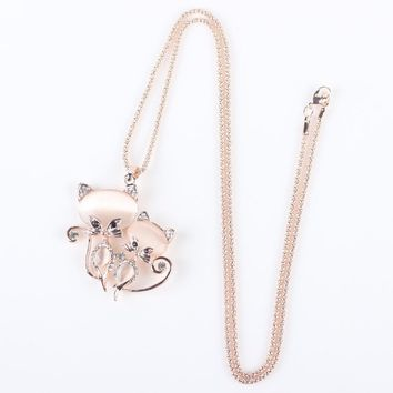 Cat Necklace Women Fashion Jewelry Statement Accessories