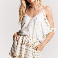 Sunflower Print Romper