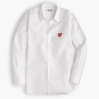 J.Crew Womens Play Comme Des Garcons Red Heart Button-Down Shirt