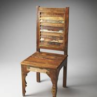 Artifacts Rampala Solid Wood Side Chair Recycled Wood