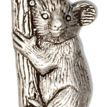 STERLING SILVER TREE HUGGING KOALA BEAR CHARM