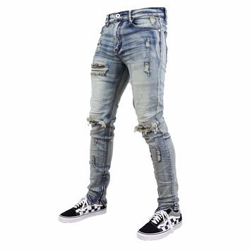 Harry Distressed Jeans (Denim Blue)