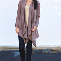 Pipeline Knit Cardigan {Mocha}