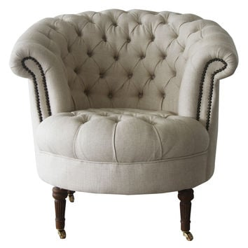 Melange Home Barrel Armchair - White