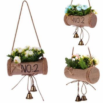 Plants Hanger Vintage Macrame Creative Flower Pot Holder String Hanging Wall Art Home Balcony