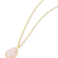 Cory Pendant Necklace In Rose Quartz