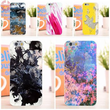 EJGROUP Soft TPU Silicon Print Case For Apple iPhone 6 6S 4.7 inch michael chase marbling white and pink