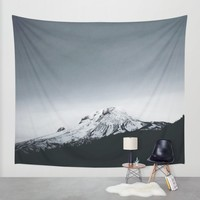 Mt. Hood x Oregon Wall Tapestry by Leah Flores