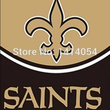 New Orleans Saints   LOGO WORDMARK  HELMET Flag 150X90CM Banner 100D Polyester3x5 FT flag brass grommets1006, free shipping