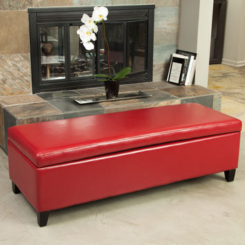 Best Red Storage Ottoman Products on Wanelo