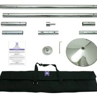 X-Pole X-Pert Dance & Exercise Pole - Spinning & Stationary (Chrome, 45mm)