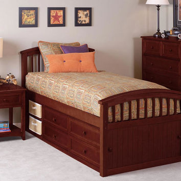 Craftsman Twin Size Captains Bed
