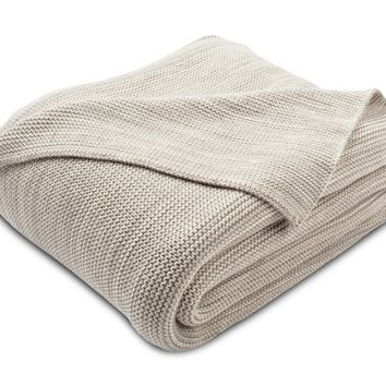 Blanche Knit Throw