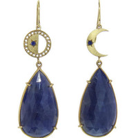 Andrea Fohrman: Blue Sapphire Phases of the Moon Earrings - YLANG 23 - Ylang 23